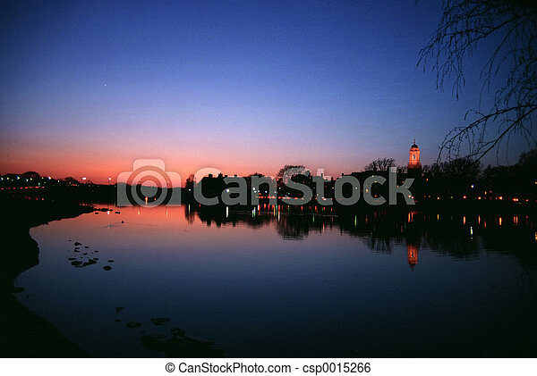Sunset at Charles - csp0015266