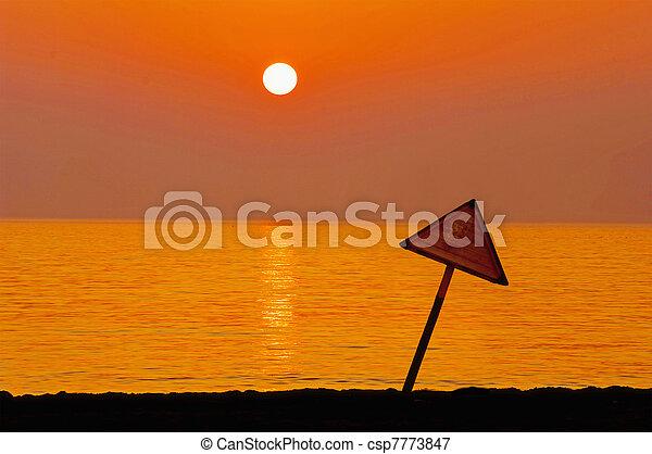 sunset at coast of the sea - csp7773847