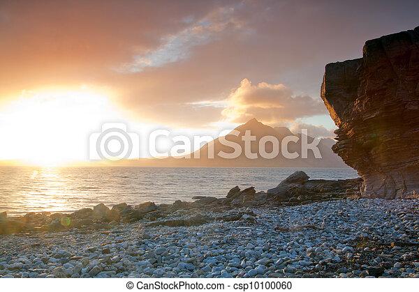 Sunset at Elgol Isle of Skye Highland Scotland - csp10100060