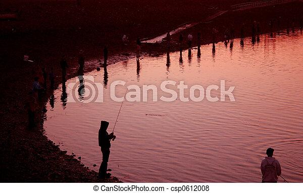 Sunset at Fishing Hole - csp0612008