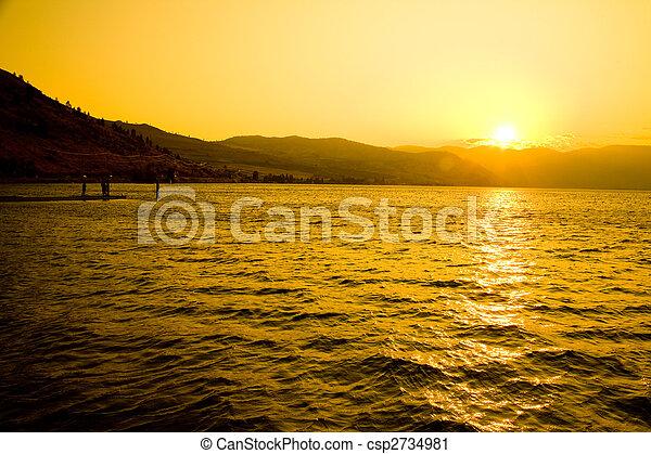 Sunset at Lake Chelan - csp2734981