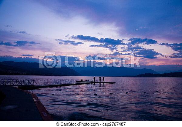 Sunset at Lake Chelan - csp2767487