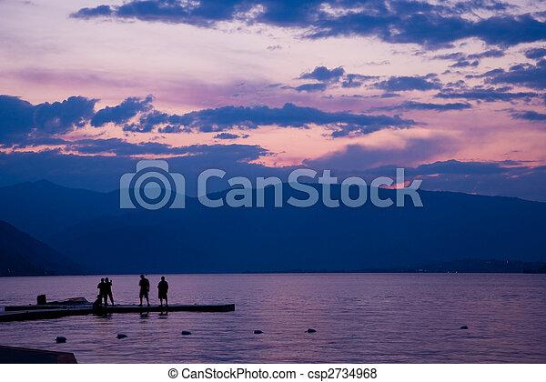 Sunset at Lake Chelan - csp2734968