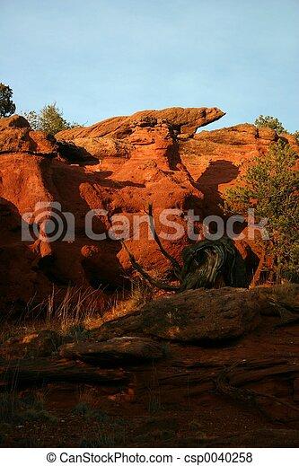 Sunset at Red Rocks - csp0040258