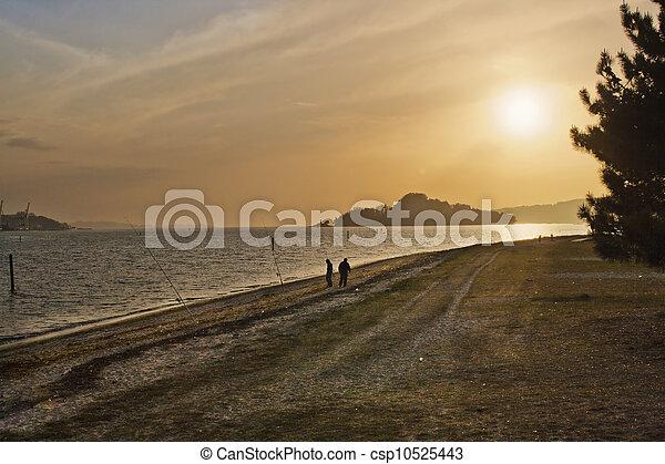 Sunset at Tambo island - csp10525443