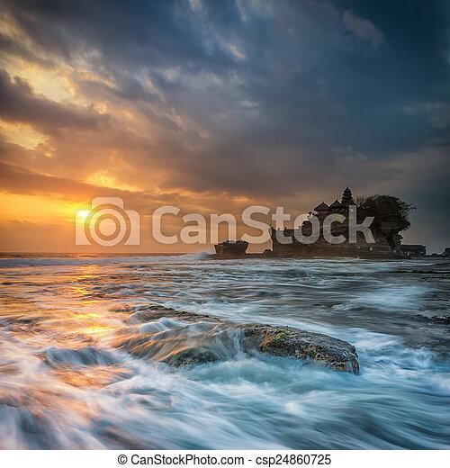 Sunset at Tanah Lot, Bali - csp24860725