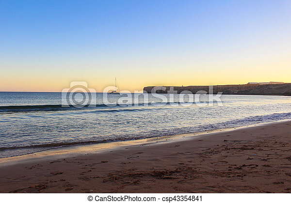 Sunset at the beach - csp43354841