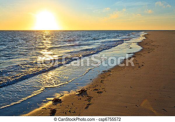 Sunset at the beach - csp6755572