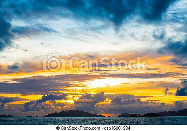Sunset at the beach - csp16001904