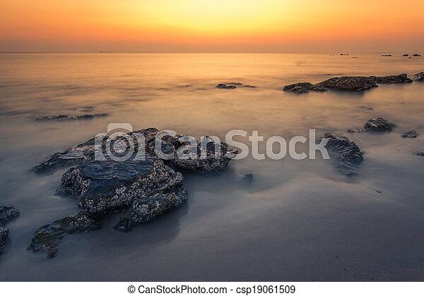 Sunset at the beach - csp19061509