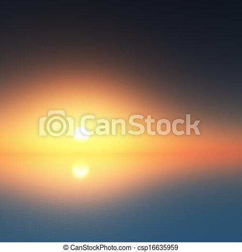 sunset at the ocean - csp16635959