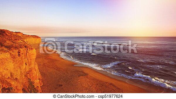 Sunset at the ocean - csp51977624