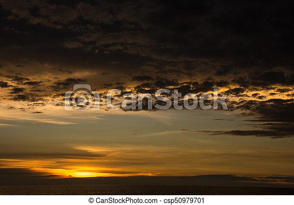 Sunset at the sea - csp50979701