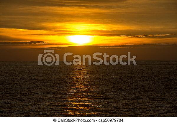 Sunset at the sea - csp50979704