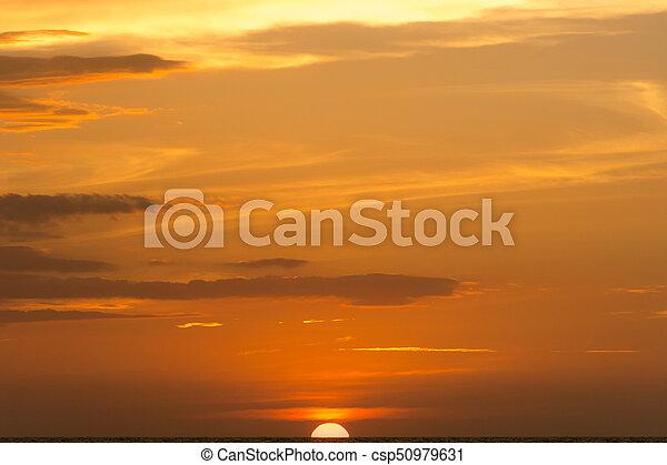Sunset at the sea - csp50979631