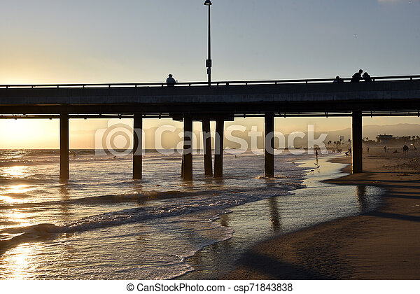 Sunset at Venice Pier - csp71843838