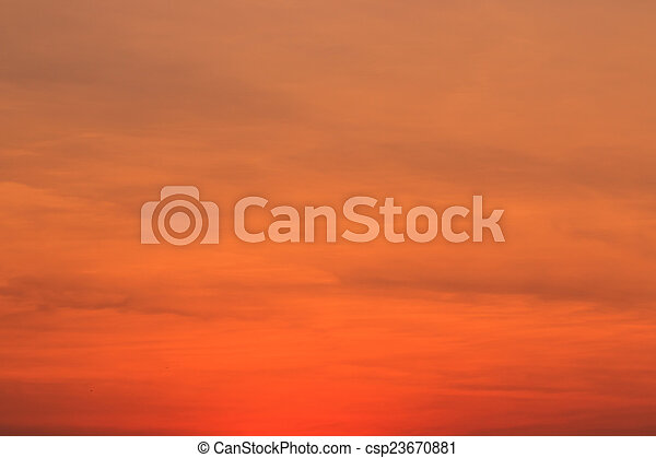 Sunset blue sky and clouds backgrounds - csp23670881