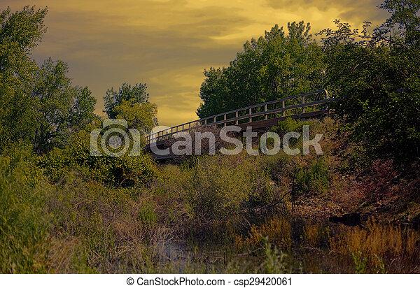Sunset Bridge - csp29420061