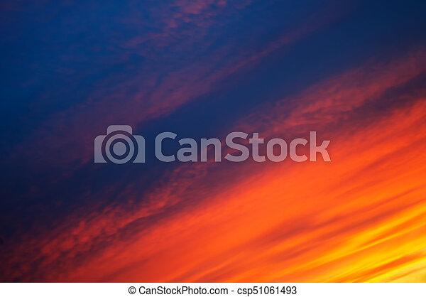 sunset clouds - csp51061493