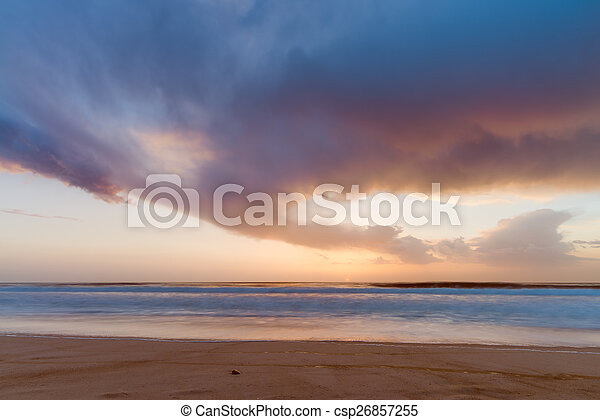 Sunset from the beach - csp26857255