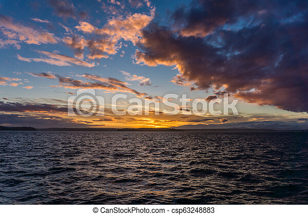 Sunset Glow With Clouds 3 - csp63248883