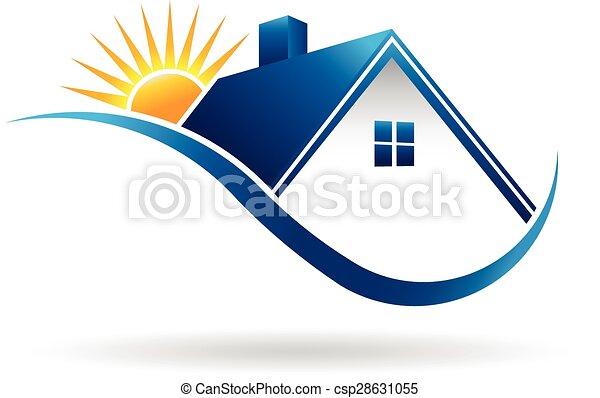 sunset home logo sunset home rh canstockphoto com logo clipart design logo clip art free download