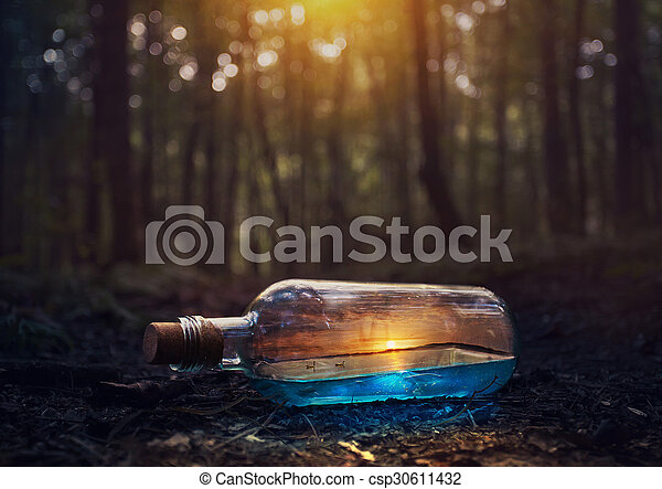 Sunset in a Bottle - csp30611432