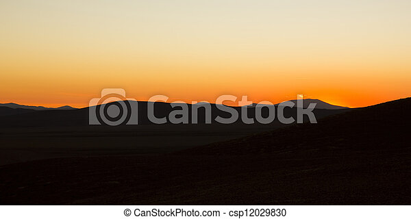 Sunset in Atacama desert. - csp12029830
