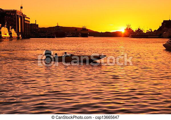 Sunset in Bergen - csp13665647