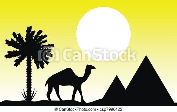 Sunset in Egypt - csp7996422