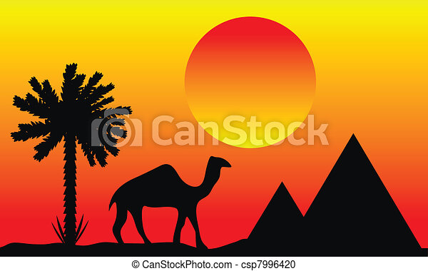 Sunset in Egypt - csp7996420