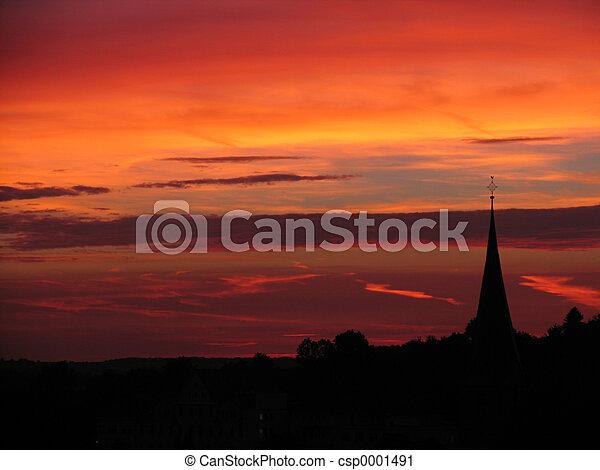 Sunset in hometown - csp0001491
