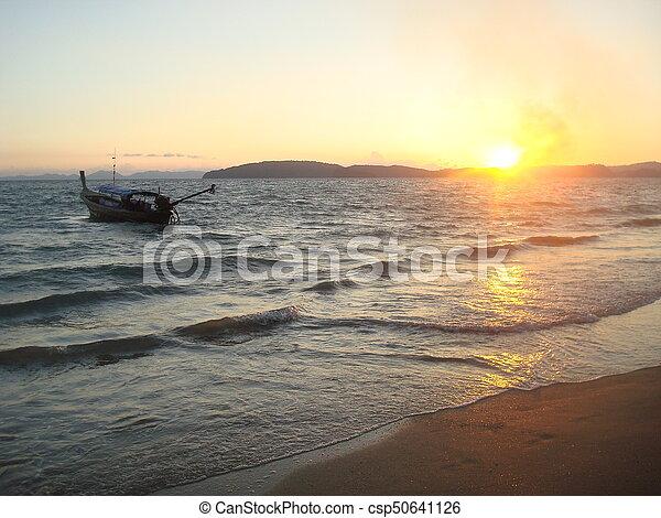 Sunset in Krabi - csp50641126