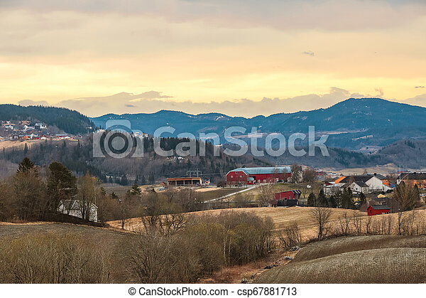 Sunset in Norway - csp67881713