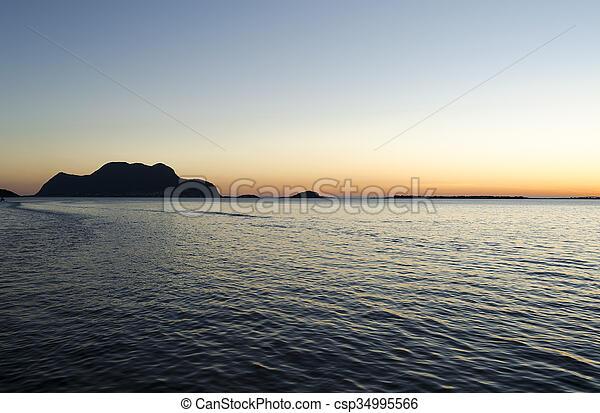 Sunset in Norway - csp34995566
