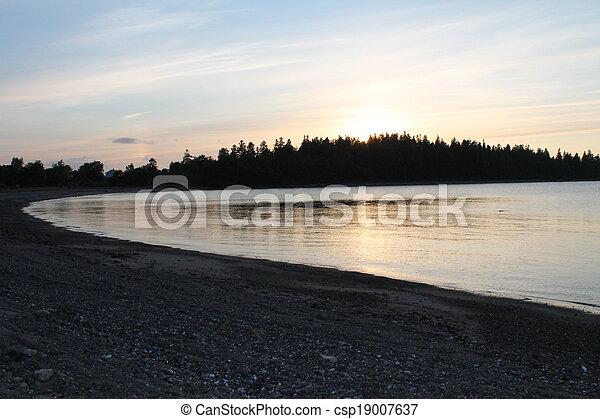 Sunset in Norway - csp19007637