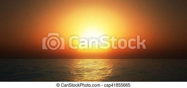 sunset in ocean - csp41855665