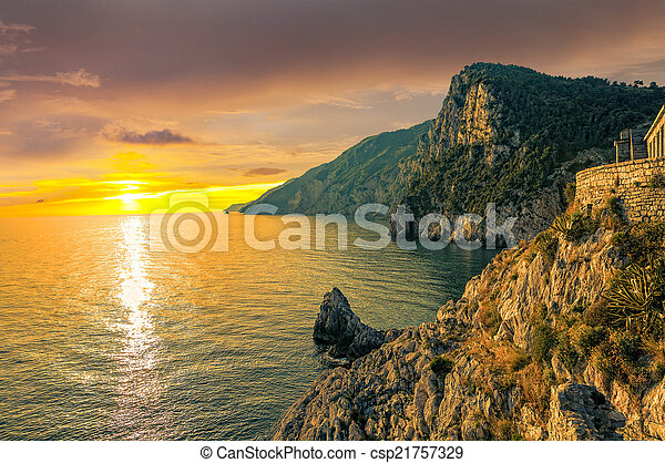 Sunset in Porto Venere - csp21757329