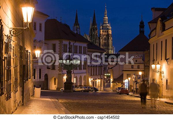 Sunset in Prague - csp1454502
