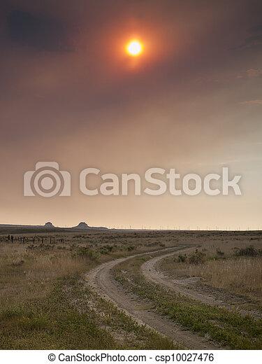 Sunset in Prairie - csp10027476