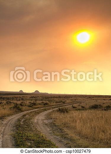 Sunset in Prairie - csp10027479