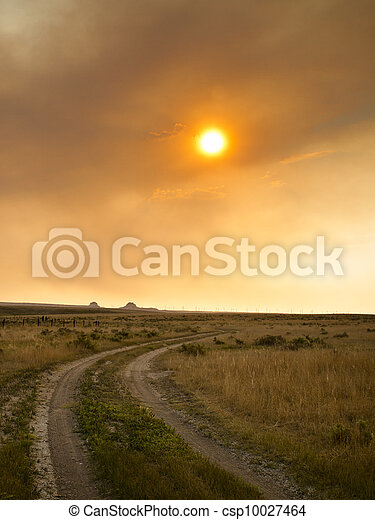 Sunset in Prairie - csp10027464