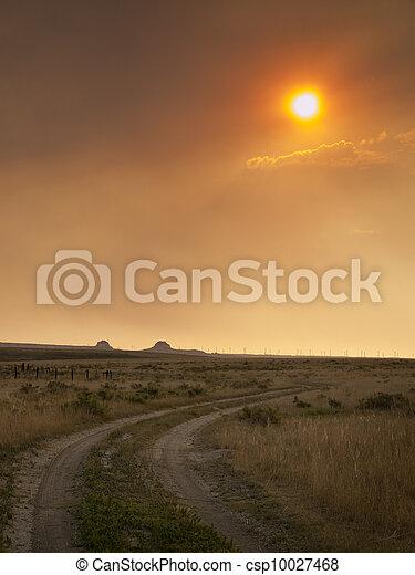 Sunset in Prairie - csp10027468
