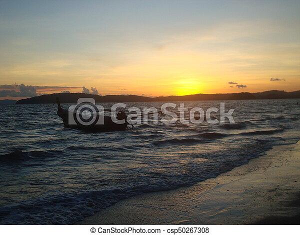 Sunset in Thailand - csp50267308