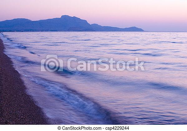 Sunset in the beach - csp4229244