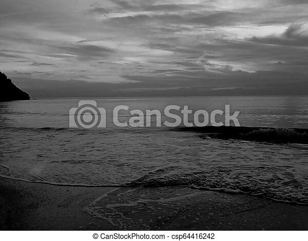 sunset in the beach - csp64416242
