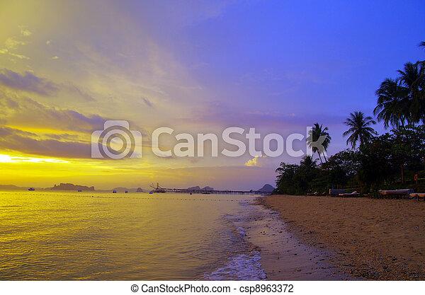 Sunset In The Beach - csp8963372