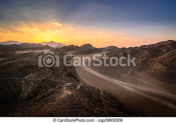 Sunset In the desert - csp29809306
