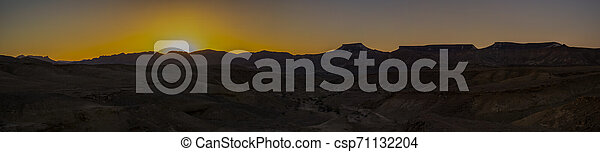Sunset in the Desert - csp71132204