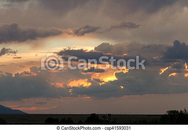 sunset in the desert - csp41593031